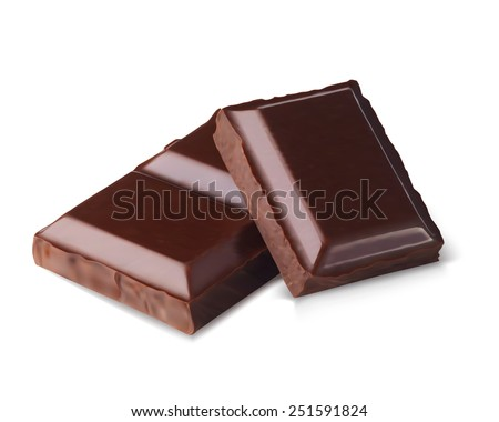 chocolate bars isolated on white background - stock vector