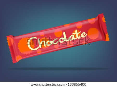 Chocolate candy bar - stock vector