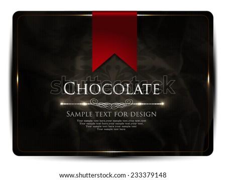 Chocolate-card design - stock vector