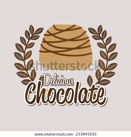 chocolate design , vector illustration