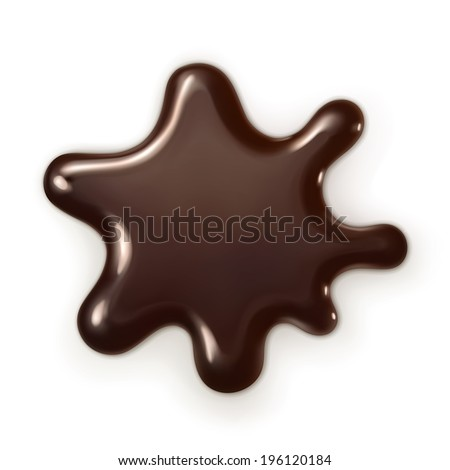 Chocolate drop, vector illustration - stock vector