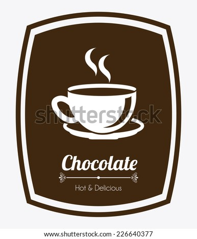 chocolate graphic design , vector illustration