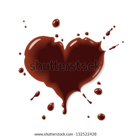 Chocolate heart - stock vector