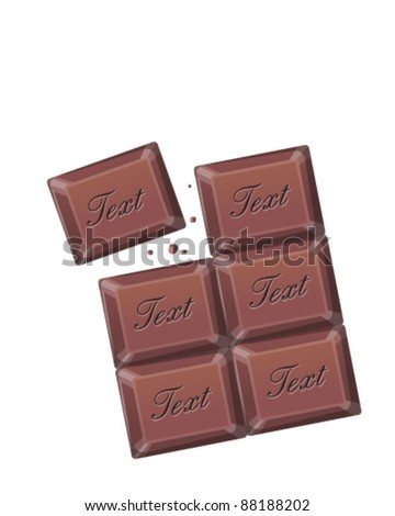Chocolate isolated - stock vector