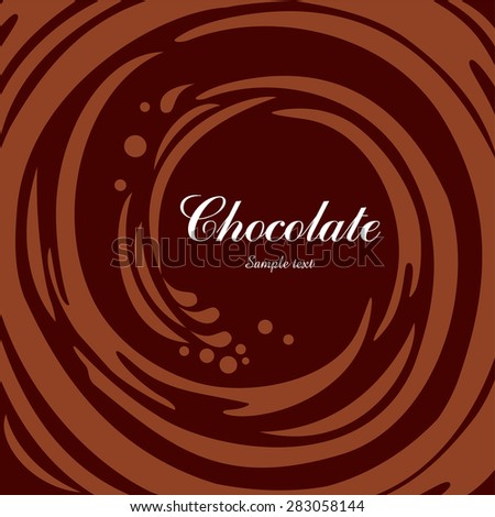 Chocolate swirl background. Vector Illustration - stock vector