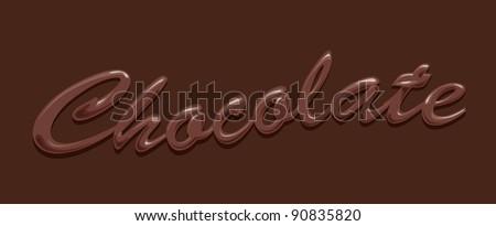chocolate text - stock vector
