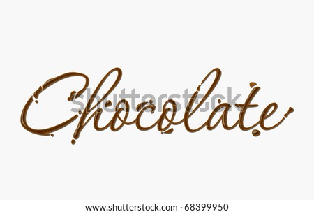 Chocolate text made of chocolate vector design element. - stock vector