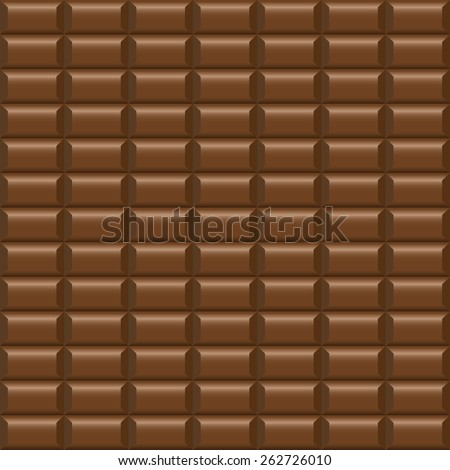 Chocolate tile - seamless vector background. - stock vector