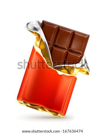 Chocolate vector - stock vector