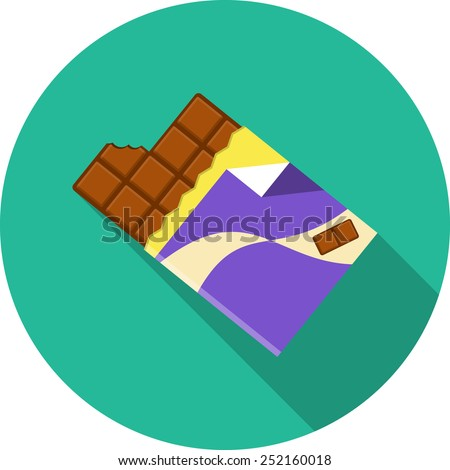 Chocolate.Vector Flat Illustration - stock vector
