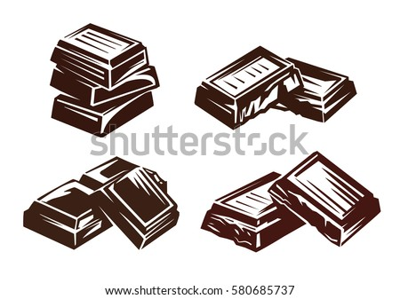chocolate vector symbol vector illustration on white
