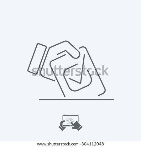 Choice icon - Thin series - stock vector