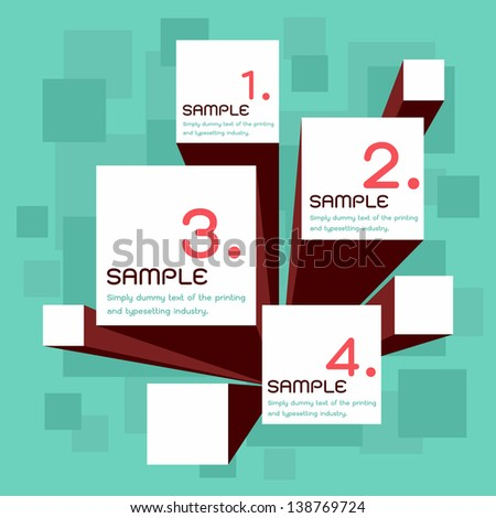 choice options, vector - stock vector