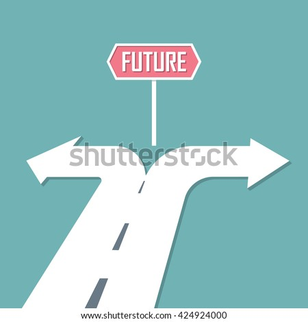 Choose path to Future. decision concept. Vector illustration - stock vector
