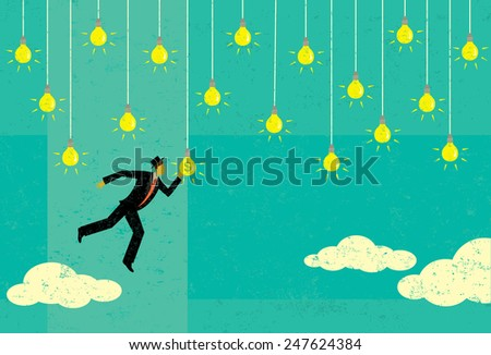Choosing a Profitable Idea There are lots of great ideas out there and choosing the most profitable one is a key to success.  - stock vector