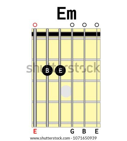 Chord Diagram Tab Tabulation Finger Chart Stock Vector 1071650939 ...