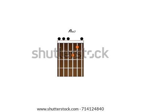 Chord Guitar Am7 Stock Vector 714124840 Shutterstock