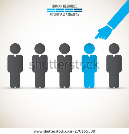 Chosen one - human resources - stock vector