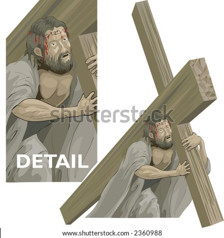 Christ bearing the cross to the crucifixion