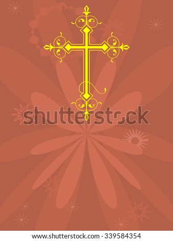 Christian Cross Design Vector Art - stock vector