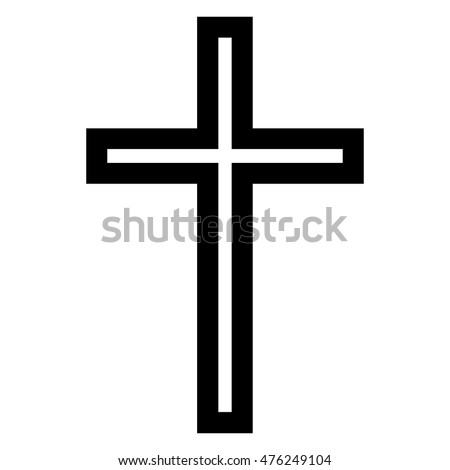 orthodox christian cross isolated on white stock illustration