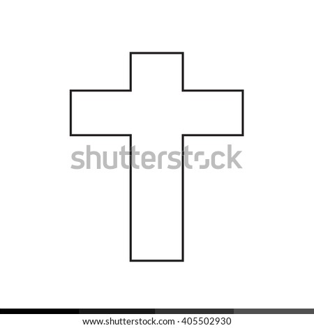 Christian Cross Icon Illustration design - stock vector