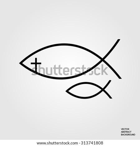 Christian fish symbol stock images royalty free images for Christian fish symbol meaning