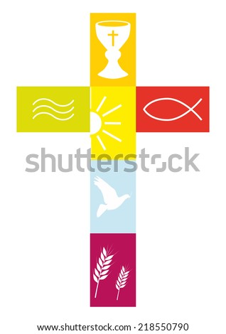 Christian Religion - stock vector