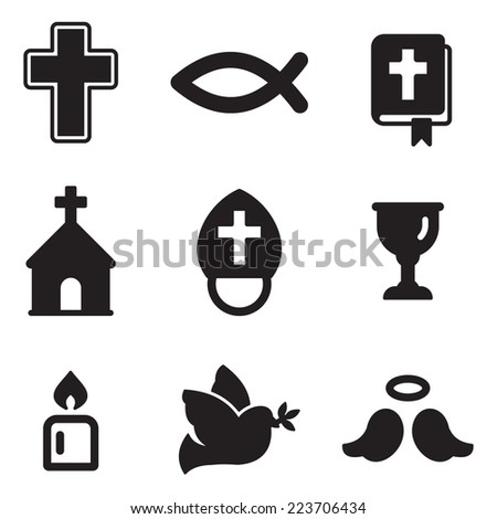 Christianity Icons - stock vector