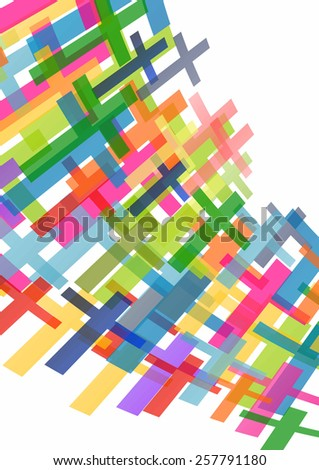 Christianity religion cross concept abstract background  - stock vector