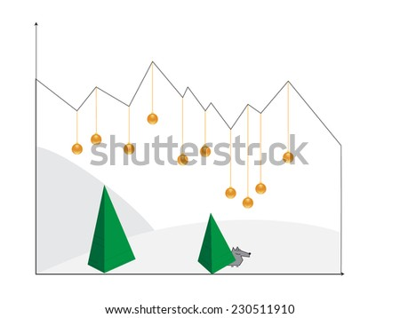 christmas abstract  - stock vector
