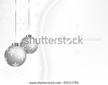 Christmas abstract background  with balls - vector illustration