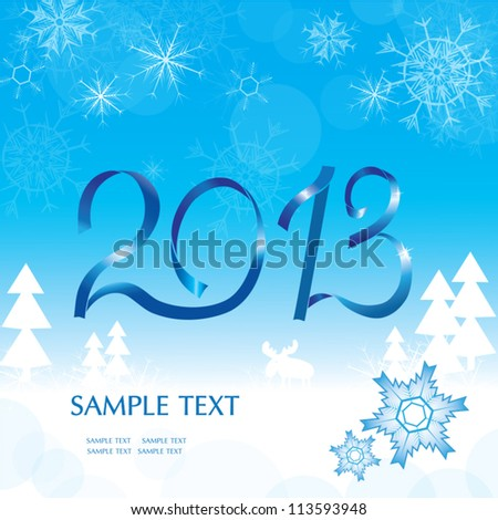 Christmas abstract blue background. - stock vector