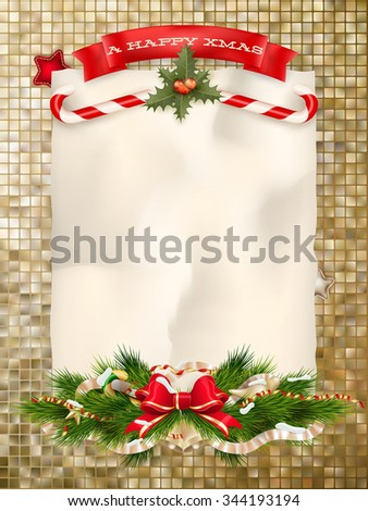 Christmas Abstract gold Background. EPS 10 vector file included - stock vector