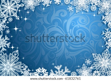 Christmas abstraction - stock vector