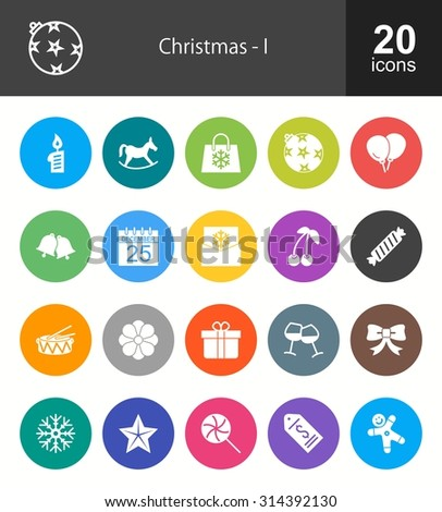 Christmas and Enjoyment icon set. Can also be used for celebration, holidays, and decoration. Suitable for web apps, mobile apps and print media. - stock vector