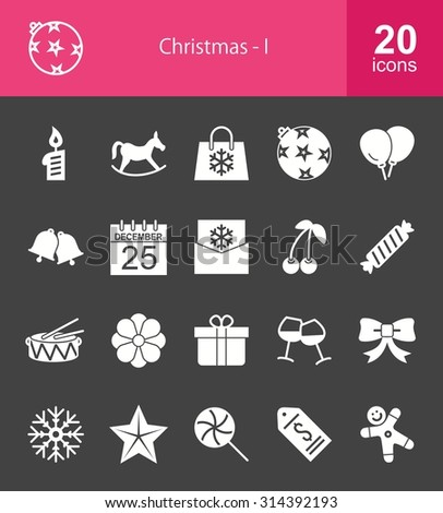 Christmas and Enjoyment icon set. Can also be used for celebration, holidays, and decoration. Suitable for web apps, mobile apps and print media.