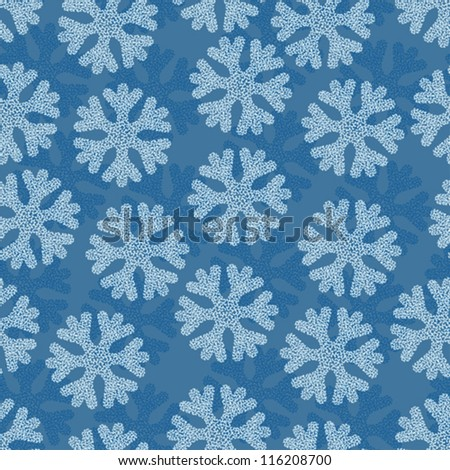 Christmas and Holidays seamless pattern with snowflakes. - stock vector