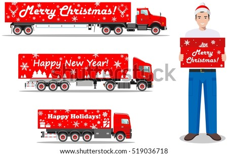 Christmas Truck Stock Images Royalty Free Images