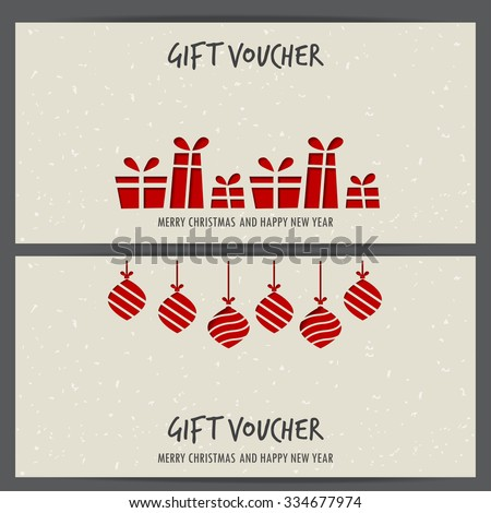 shopping certificate template - christmas gift voucher stock images royalty free images
