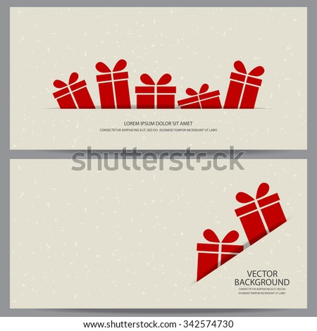 Christmas New Year Gift Voucher Certificate Stock Vector 342574730