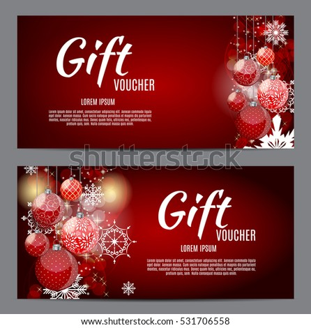 christmas gift voucher stock images royalty free images. Black Bedroom Furniture Sets. Home Design Ideas