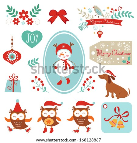 Christmas and new year graphic elements