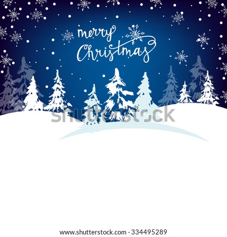 Christmas new year greeting cards christmas stock vector 334495289 christmas and new year greeting cards with christmas trees snowflakes template vector m4hsunfo