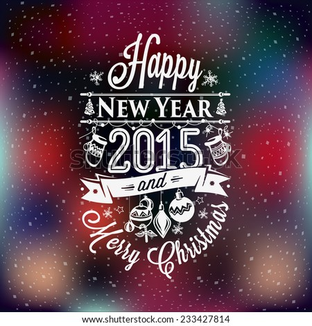 Christmas and New year label, decoration set of calligraphic design with typographic labels, symbols of the year and icons elements for you. Hand drawn authors work.  - stock vector