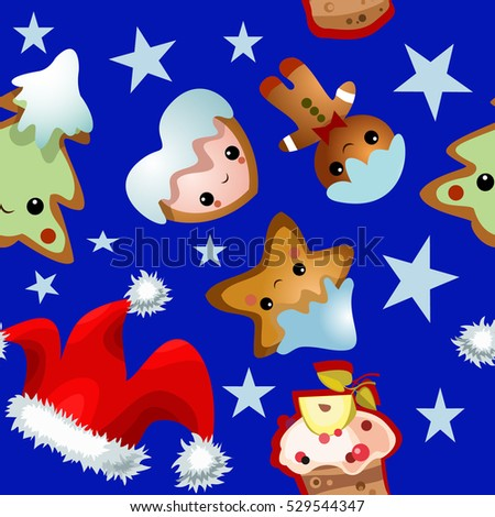 Christmas and new year pattern.christmas elements on a colored background