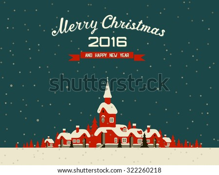 Christmas and New Year's Background - stock vector