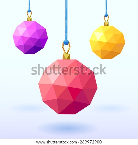 Christmas and New Year's geometric background - stock vector