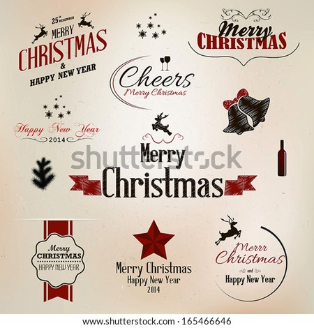 Christmas New Year Symbols Design Vector Stock Photo Photo Vector