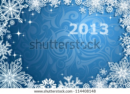 Christmas and New Year theme abstraction - stock vector